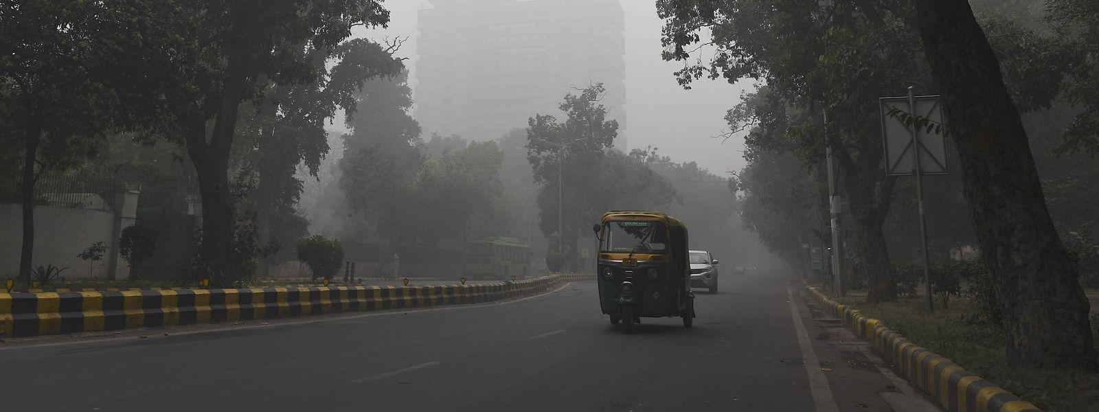 Indiens Hauptstadt New Delhi versinkt im Smog.
