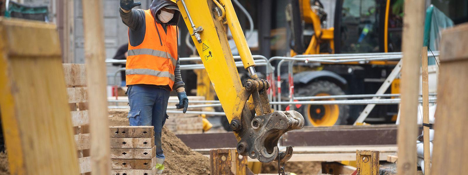 Seit dem 23. August wird auf Luxemburgs Baustellen wieder gearbeitet.