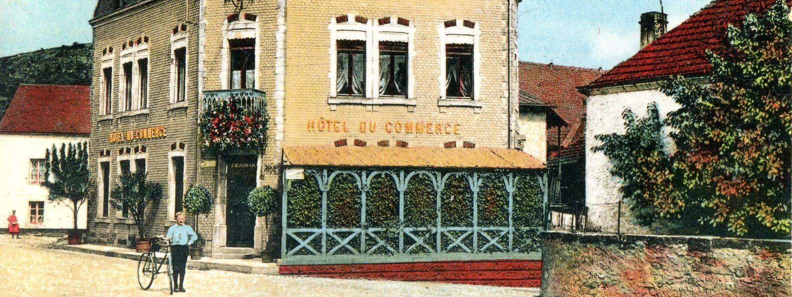 Diese Postkarte von 1918 zeigt den damaligen Gastwirt Hennes Blasius mit Fahrrad.