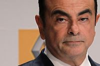 (FILES) This file photo taken on September 30, 2014 shows French Renault car maker CEO Carlos Ghosn giving a press conference during the inauguration of a new production plant in Sandouville. - Renault boss Carlos Ghosn has handed in his resignation, France's economy minister said on January 24, 2019 ahead of a board meeting at which the French car maker is to appoint his successor. (Photo by CHARLY TRIBALLEAU / AFP)
