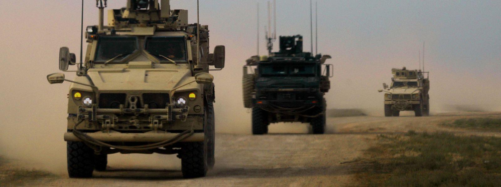 US-Militärfahrzeuge in Syrien.