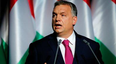 Hungarian Prime Minister Viktor Orban speaks during his state-of-the-nation address in Budapest, Hungary, February 10, 2017.