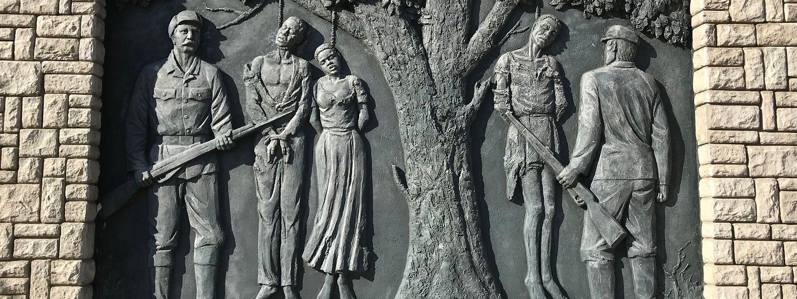 Ein Denkmal erinnert im Zentrum der namibischen Hauptstadt Windhuk an den von deutschen Kolonialtruppen begangenen Völkermord an den Herero und Nama von 1904 bis 1907.