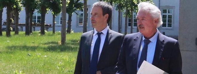 Jean Asselborn (à dr.) et Philippe Goffin ont mis en place un comité afin d'identifier le plus en amont possible les questions qui se posent dans le cadre de la réouverture progressive de la frontière
