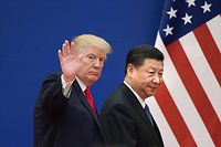 US-Präsident Donald Trump (l.) und Chinas Präsident Xi Jinping bei ihrem Gipfeltreffen am 9. November 2017 in Peking.