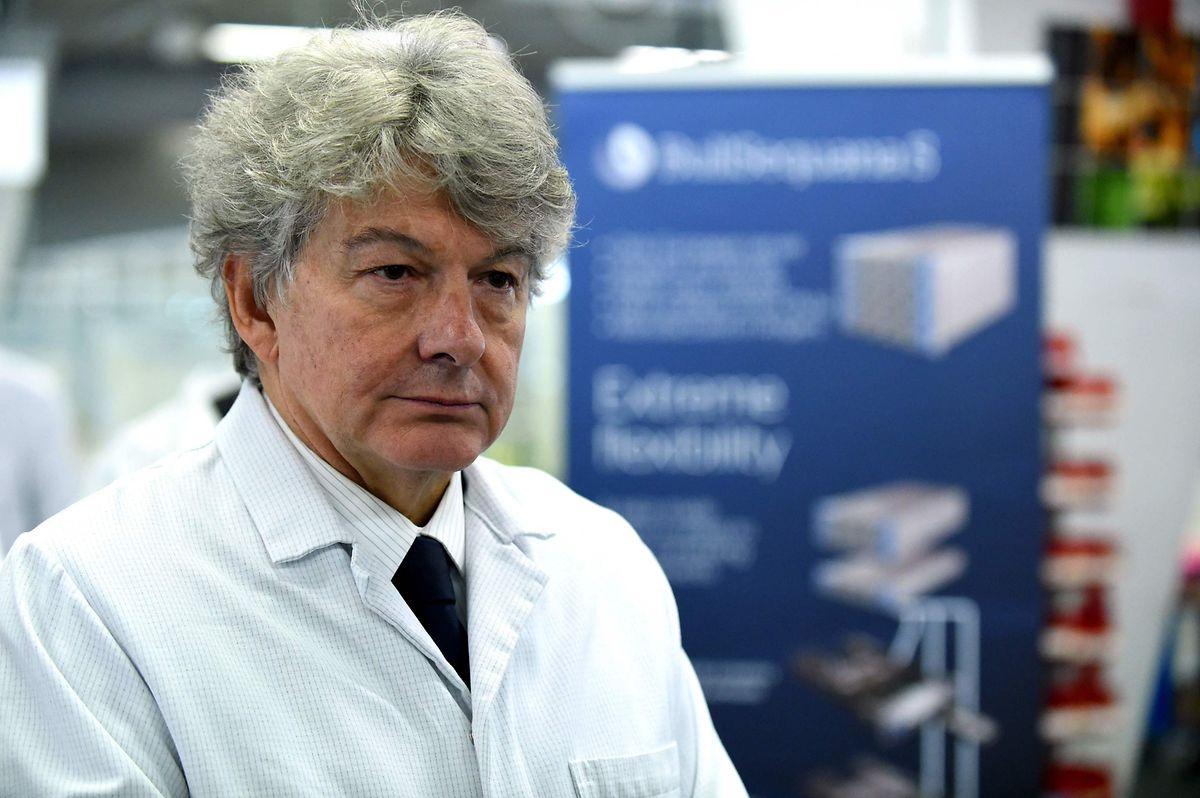 19. September: Thierry Breton, Hauptgeschäftsführer des IT-Unternehmens Atos und früherer Minister, bei der Einweihung eines Hochleitungsrechenzentrums.