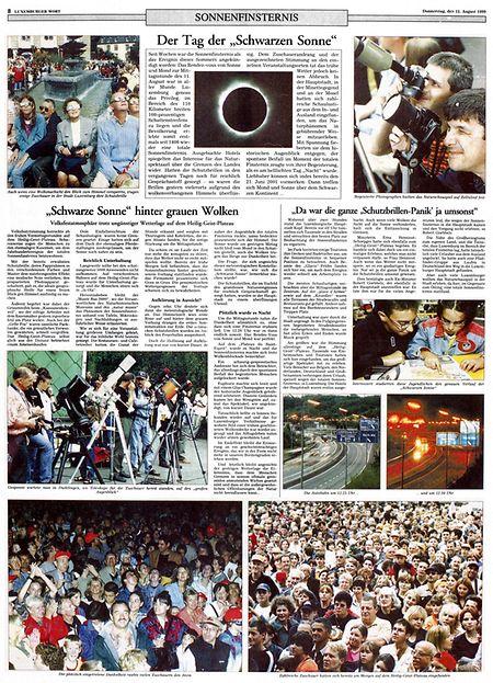 Eine Seite aus dem LW vom 12.8.1999.