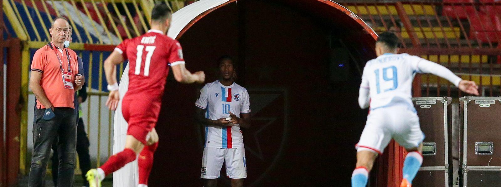 La sortie sur carton rouge de Gerson Rodrigues n'a pas aidé le Luxembourg à défendre ses chances.
