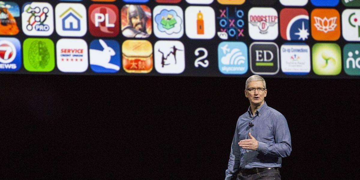Apple-CEO Tim Cook sprach zu den anwesenden Fachleuten.