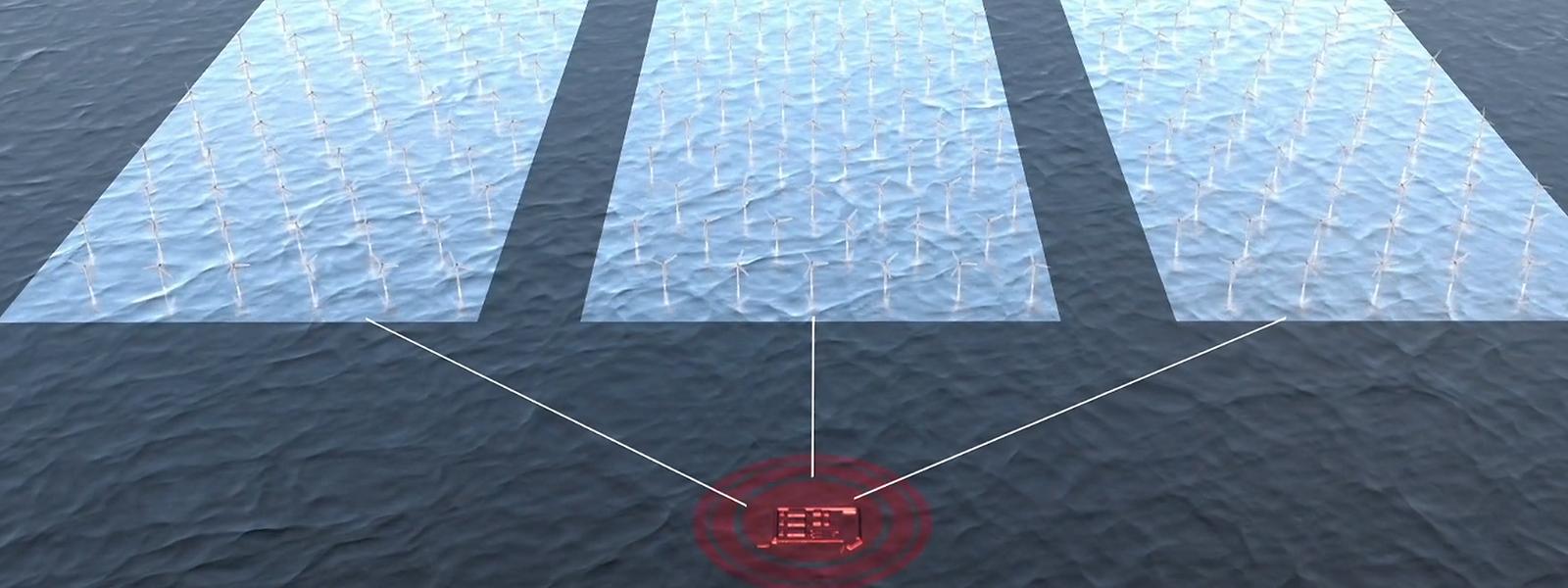 Noch ist es nur eine Animation: vor der dänischen Küste soll ein riesiger Windpark entstehen mit einer künstlichen Insel als Knotenpunkt, der den Strom in verschiedene Länder verteilt.