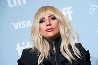 "TOPSHOT - Singer Lady Gaga attends the press conference for ""Gaga: Five Foot Two"" during the 2017 Toronto International Film Festival at TIFF Bell Lightbox September 8, 2017, in Toronto, Ontario. / AFP PHOTO / VALERIE MACON"