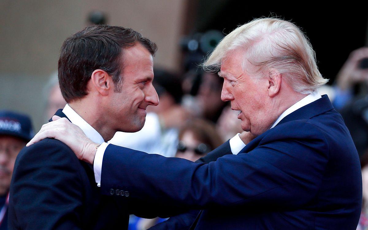 """""""Wir dürfen niemals aufhören, das Bündnis der freien Völker mit Leben zu erfüllen"""", mahnte Macron."""