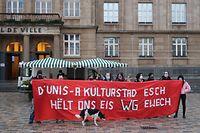 Protest Wohngemeinschaften Esch / Foto: Luc EWEN