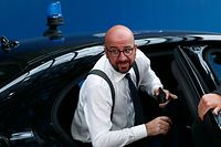 Belgium's Prime Minister Charles Michel arrives at a European Union leaders summit in Brussels, on June 30, 2019. - Deadlocked EU leaders meet for a rare weekend summit seeking to fill senior European positions and settle a battle that has split key allies France and Germany. (Photo by FRANCOIS LENOIR / POOL / AFP)