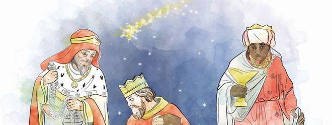 Die Heiligen Drei Könige versinnbildlichen die drei damals bekannten Erdteile: Asien, Afrika und Europa.