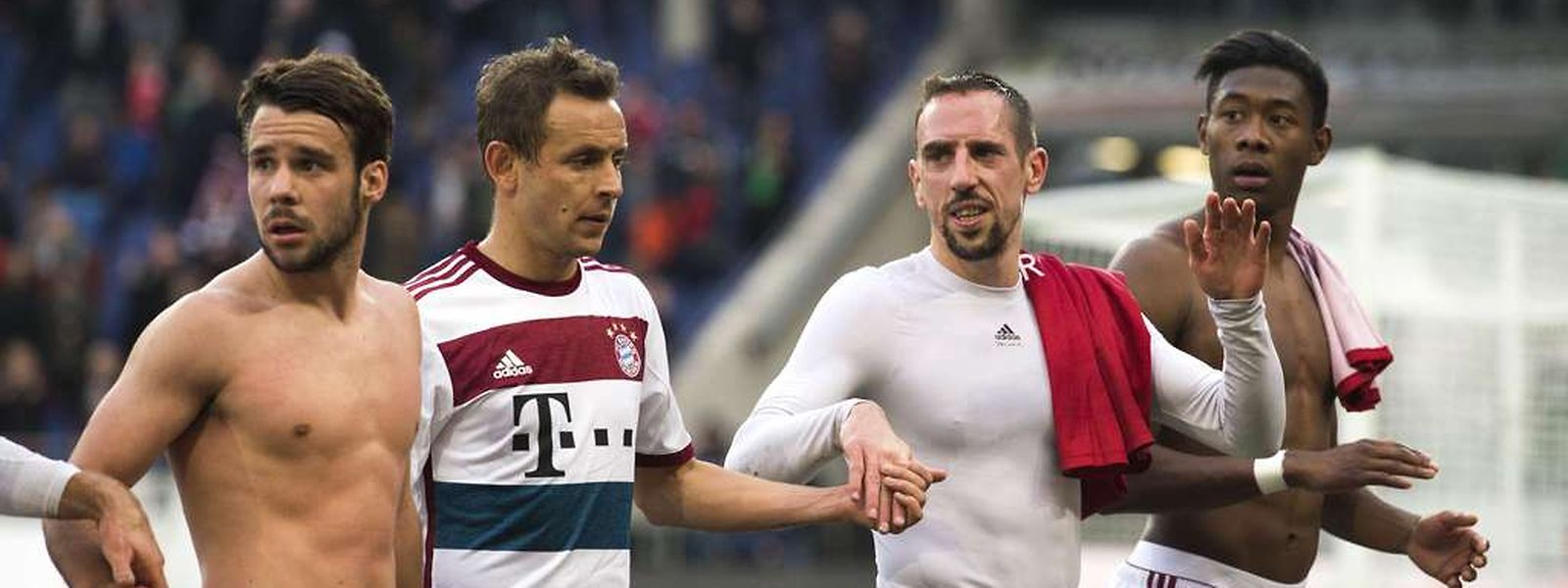 Die Spieler des FC Bayern hatten allen Grund zur Freude.