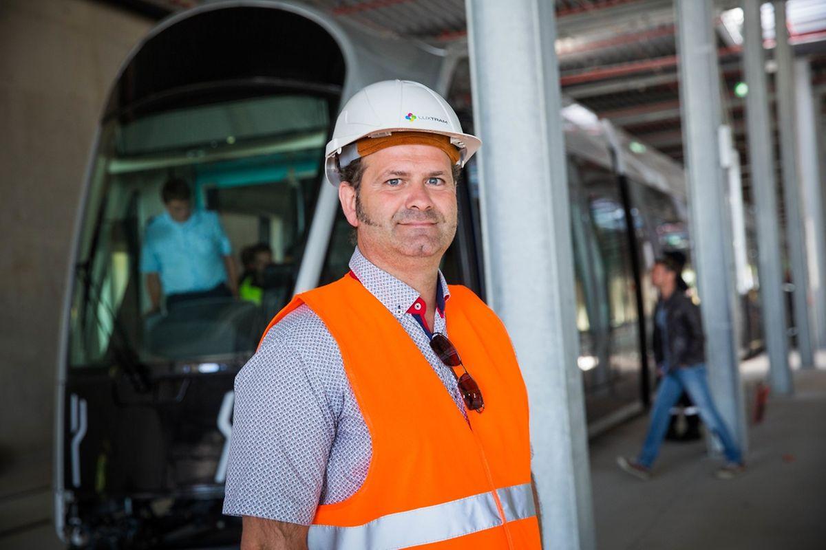 François Ceglie ist Verantwortlich für die Ausbildungen bei Luxtram. Er war früher selbst Tramfahrer.