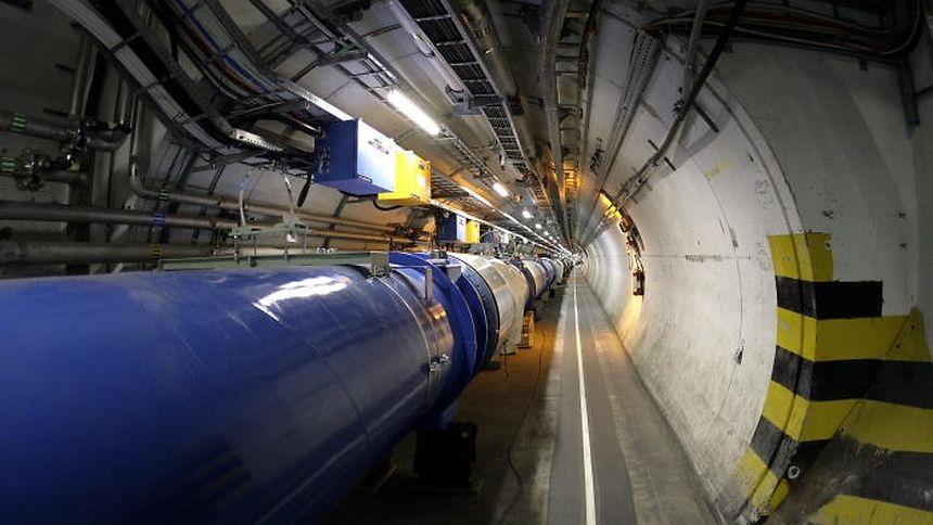 """Blick in den Beschleunigerring des LHC am Cern in Genf: so ähnlich wird """"Fair"""" ebenfalls aussehen."""