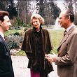 Stéphane Bern, le grand-duc Jean et sa femme, Joséphine-Charlotte, lors d'une interview accordée en 1989