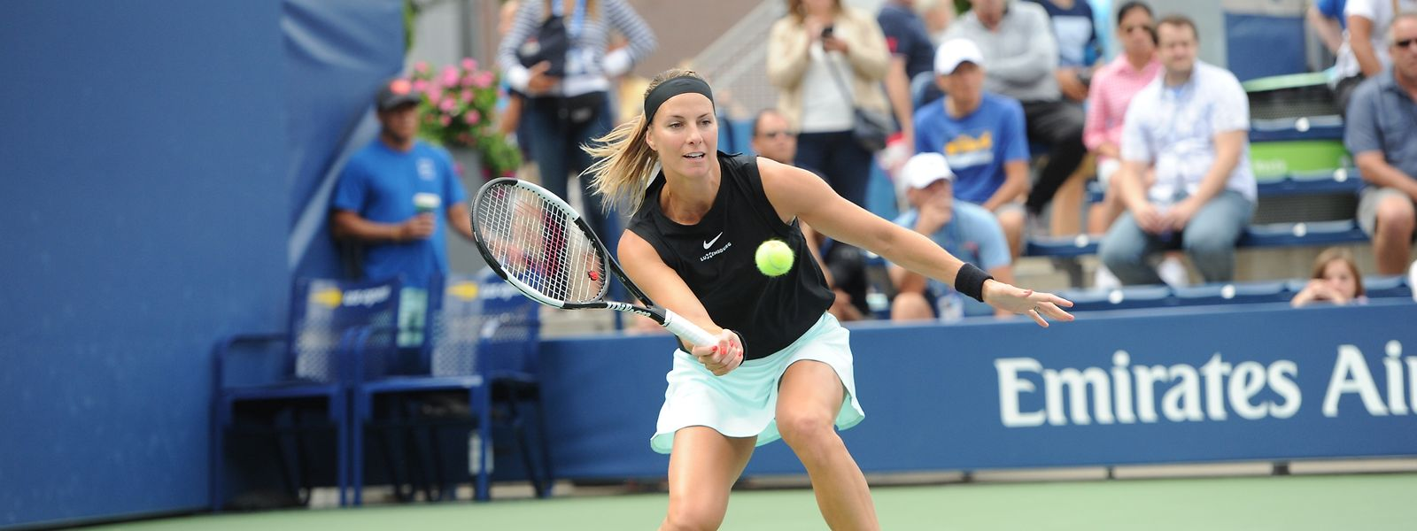 Mandy Minella, hier bei den US Open 2019, gewann den Doppeltitel in Montreux mit Xenia Knoll.