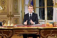 """Le président Emmanuel Macron s'est adressé à la France lundi soir, après quatre semaines de manifestations des """"gilets jaunes"""" un peu partout sur le territoire."""