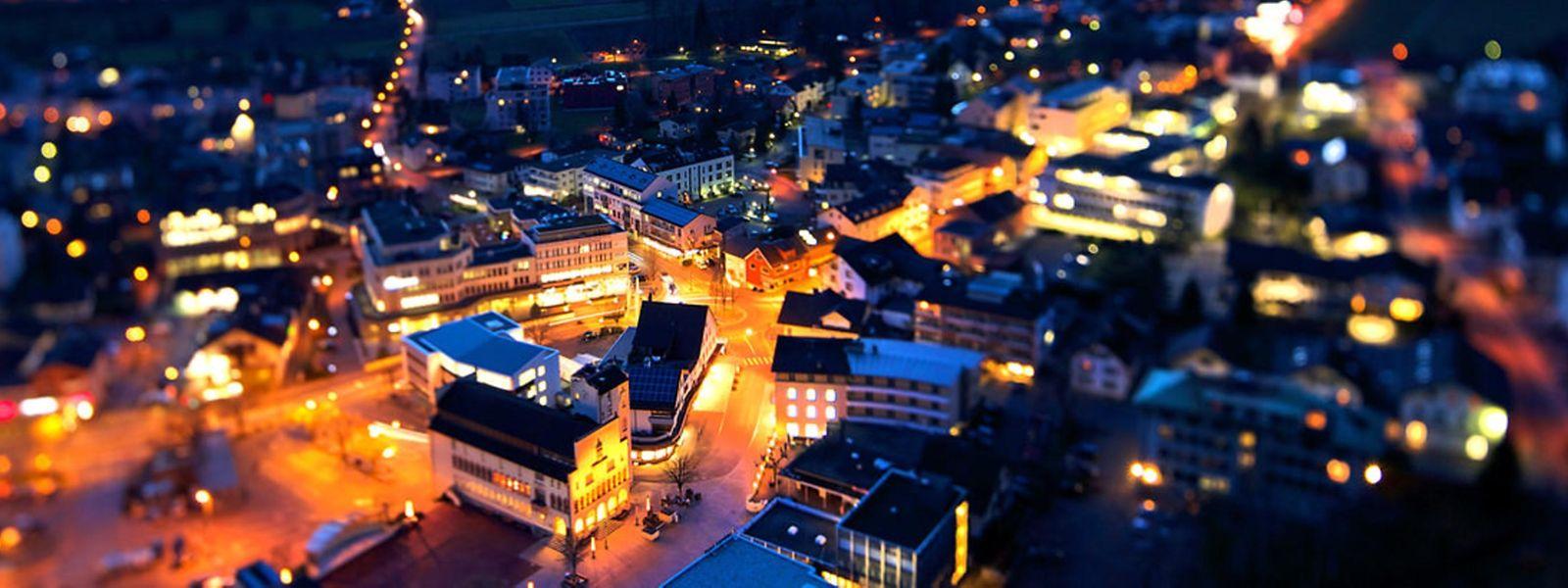 20 Mal kleiner als Luxemburg: Die liechtensteinische Hauptstadt Vaduz.