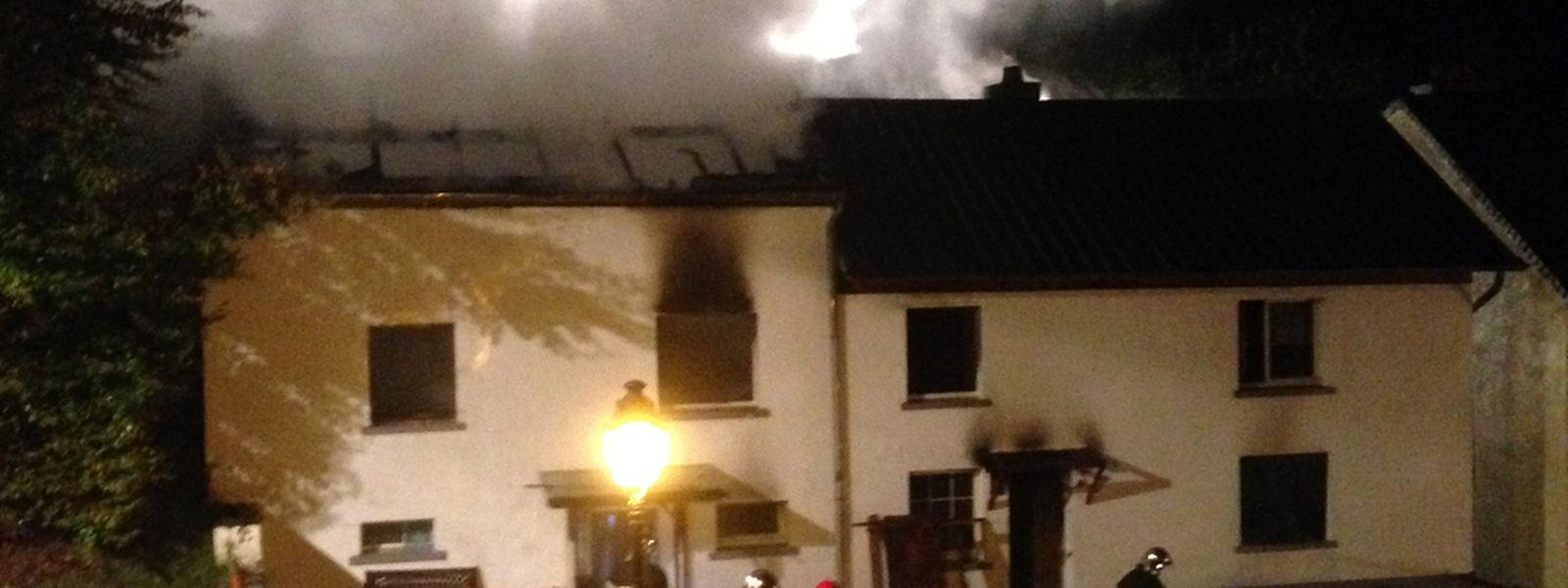 Bei dem Brand am Sonntagabend wurde niemand verletzt.