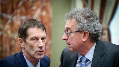 Rückendeckung aus der Chamber: DP-Fraktionschef Eugène Berger (l.) und Finanzminister Pierre Gramegna sehen die nationalen Interessen Luxemburgs durch die EU-Pläne gefährdet.