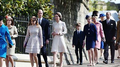 Die königliche Familie hat am Ostersonntag einen Gottesdienst in Windsor besucht.