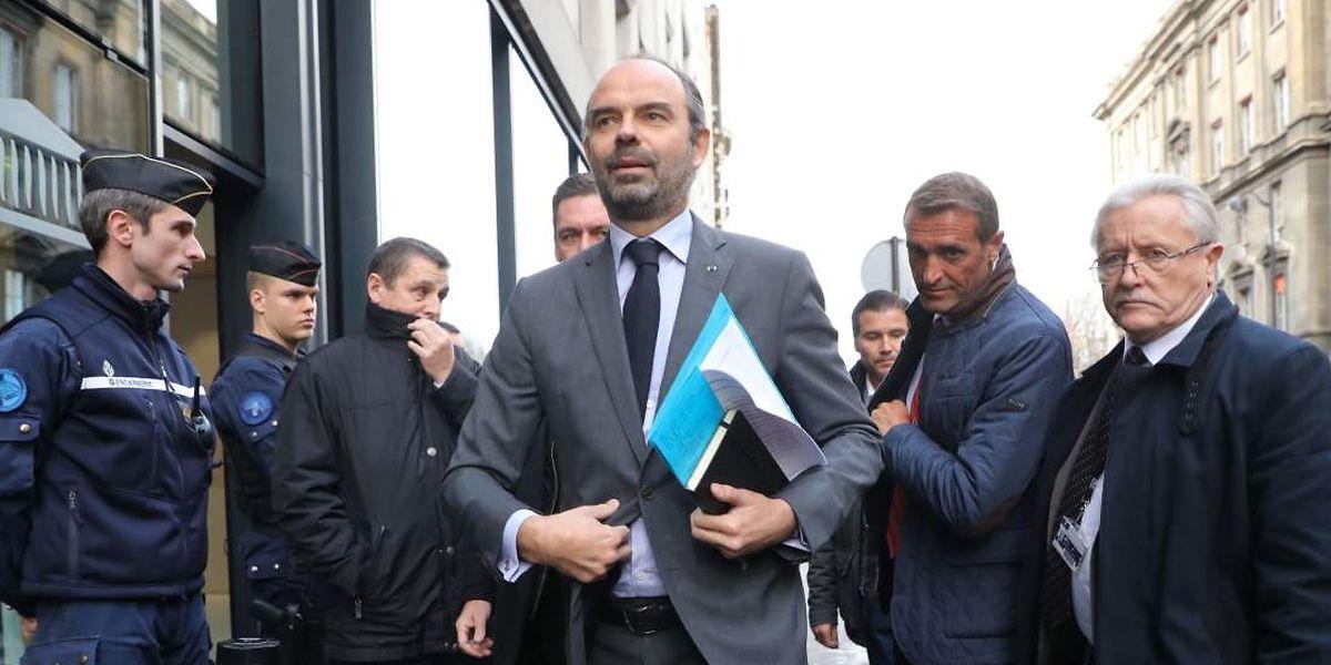 Le Premier ministre Edouard Philippe à Paris le 4 décembre