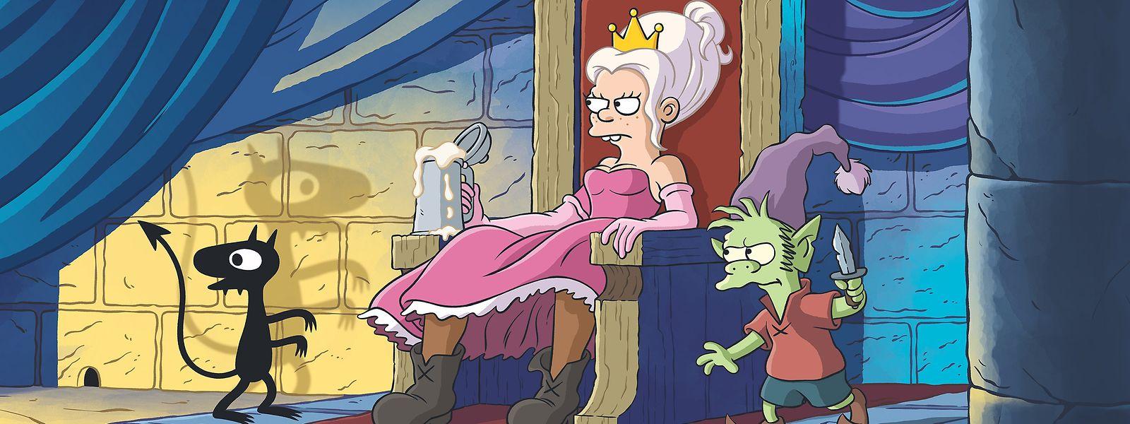 Eine Prinzessin geht ihren Weg – dabei wird Bean (Abbi Jacobson) vom bösen Dämon Luci (Eric André) und dem guten Elfo (Nat Faxon) begleitet.