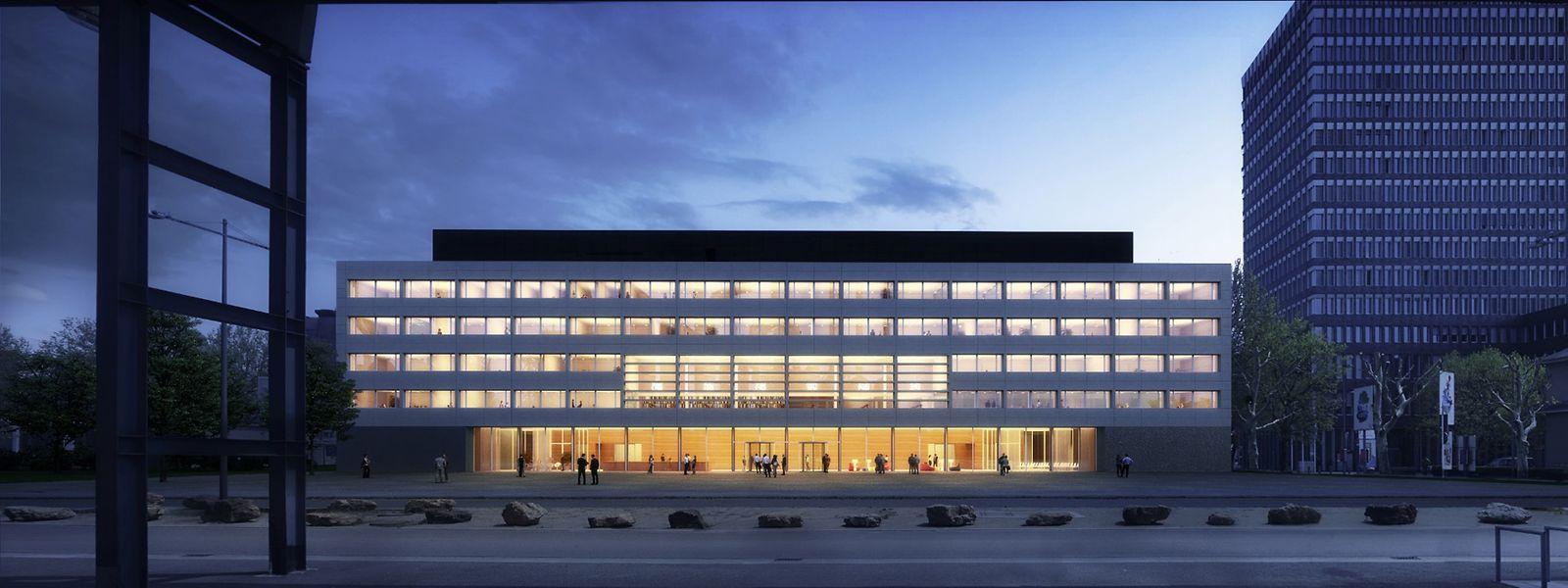 Das Gebäude soll 77 Millionen Euro kosten und einen Lesesaal für bis zu 48 Besucher haben.
