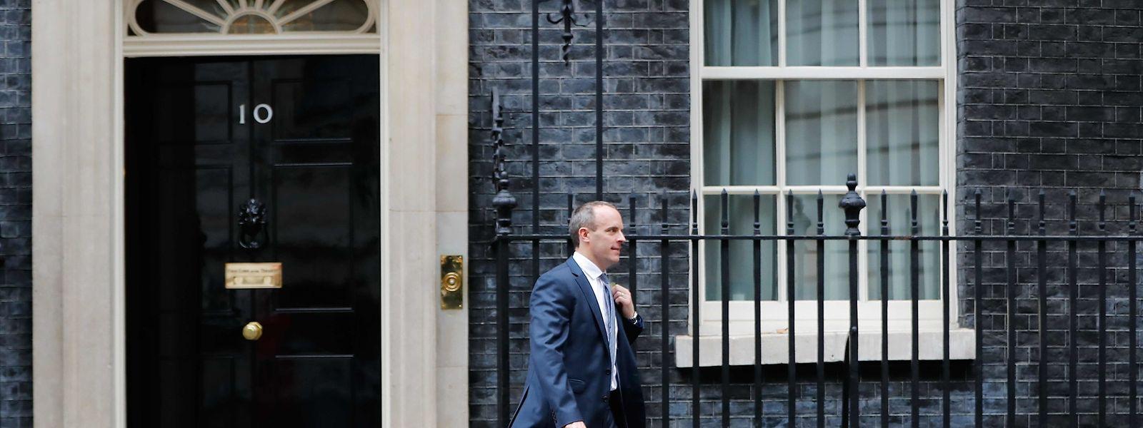 Brexit-Staatssekretär Dominic Raab nach einer Kabinettssitzung.
