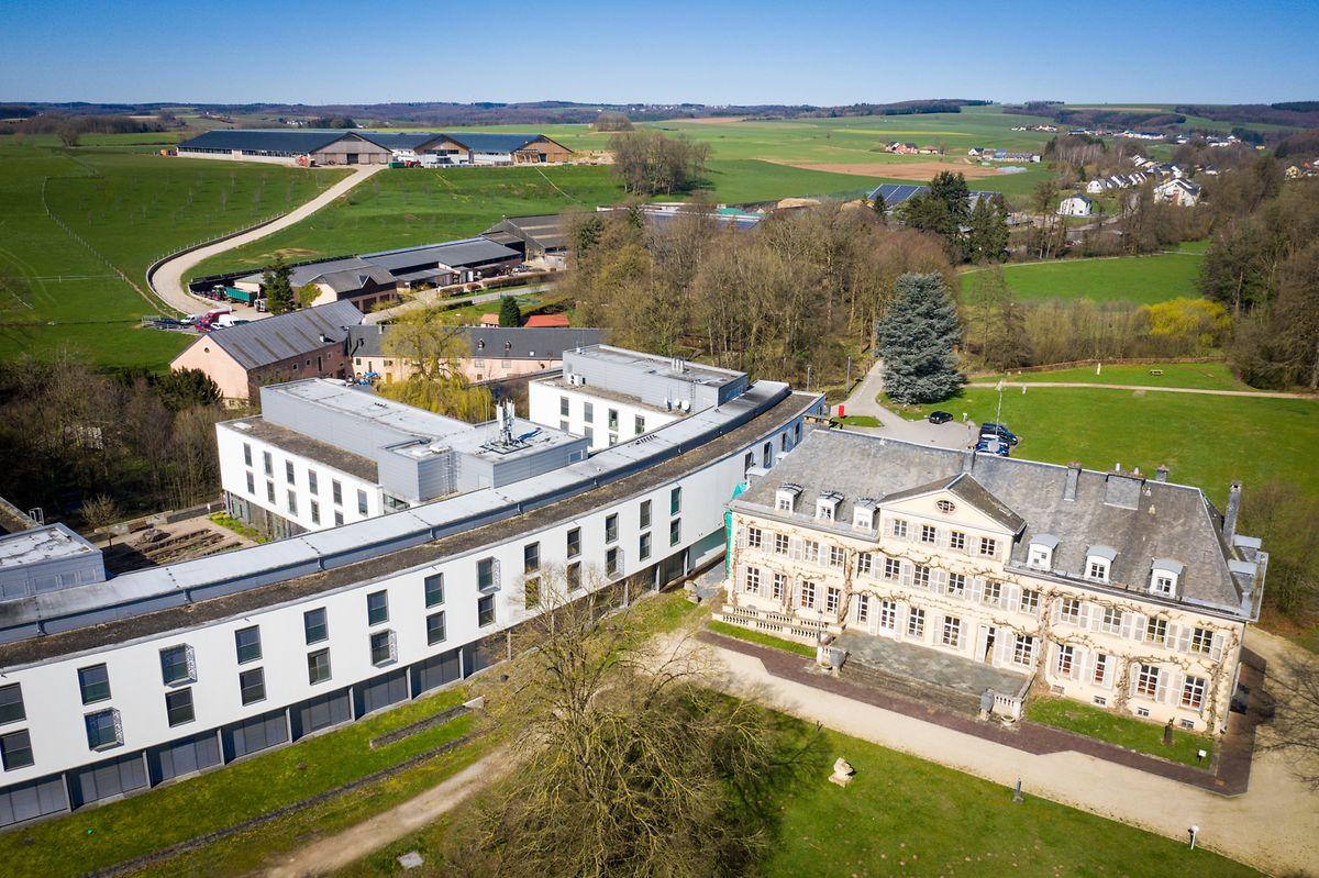 """Le château de Colpach sert déjà de """"centre de traitement""""."""