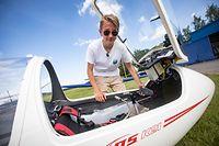 Panorama.Flugschüler Jules Mathay 14 Jahre alt. Segelflugzeug,Flugfeld Useldingen.Foto: Gerry Huberty/Luxemburger Wort