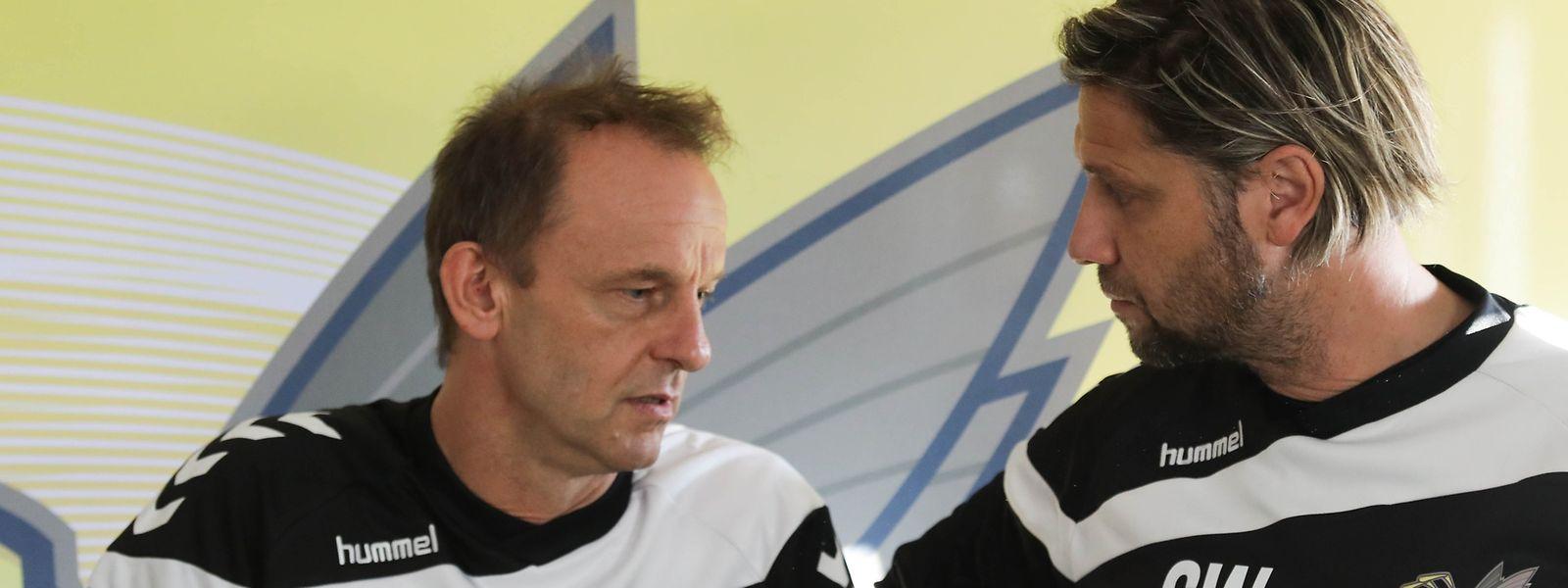 Cyril Serredszum und Serge Wolf (r.) sollen es nun in Niederkorn richten.