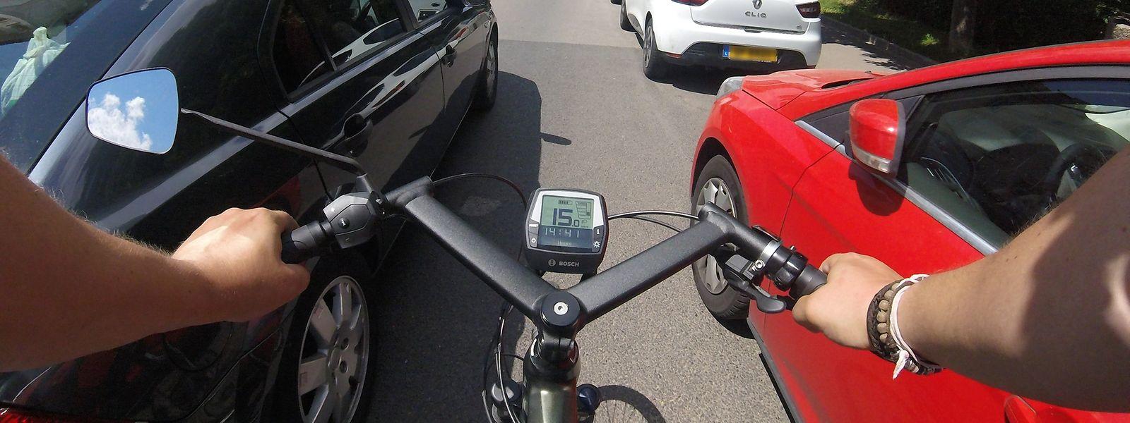 Les cyclistes sont quotidiennement confrontés à des automobilistes qui passent trop près d'eux