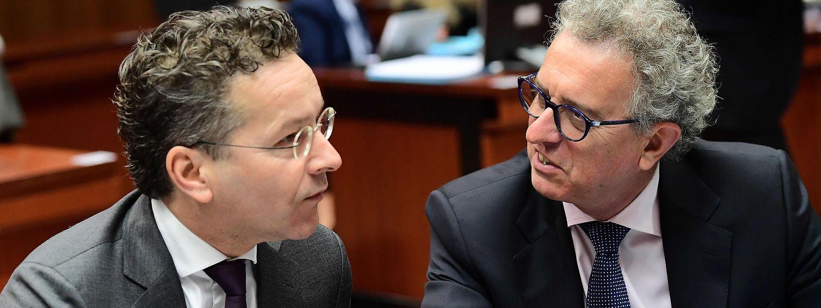 Jeroen Dijsselbloem (l.) hört als Chef der Eurogruppe auf. Pierre Gramegna könnte ihn beerben.