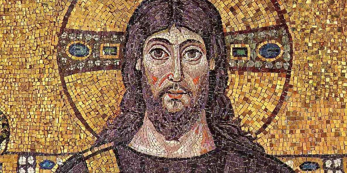 Jesus - Mosaik in der Basilika von Ravenna