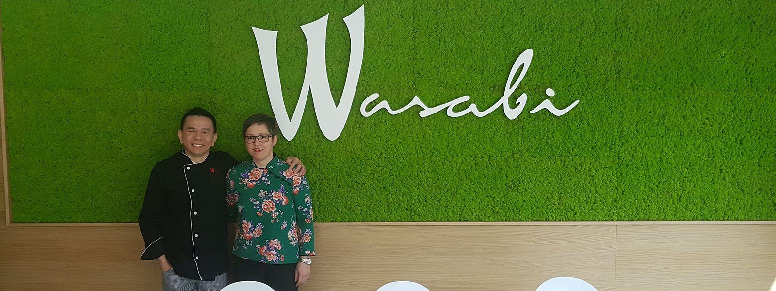 Wing-Cheong e Fátina Fernandes, proprietários do restaurante Wasabi.