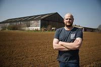 Treffen mit Bauer Albert Kerger wegen Schweinepest-Zaun - Foto : Pierre Matgé/Luxemburger Wort