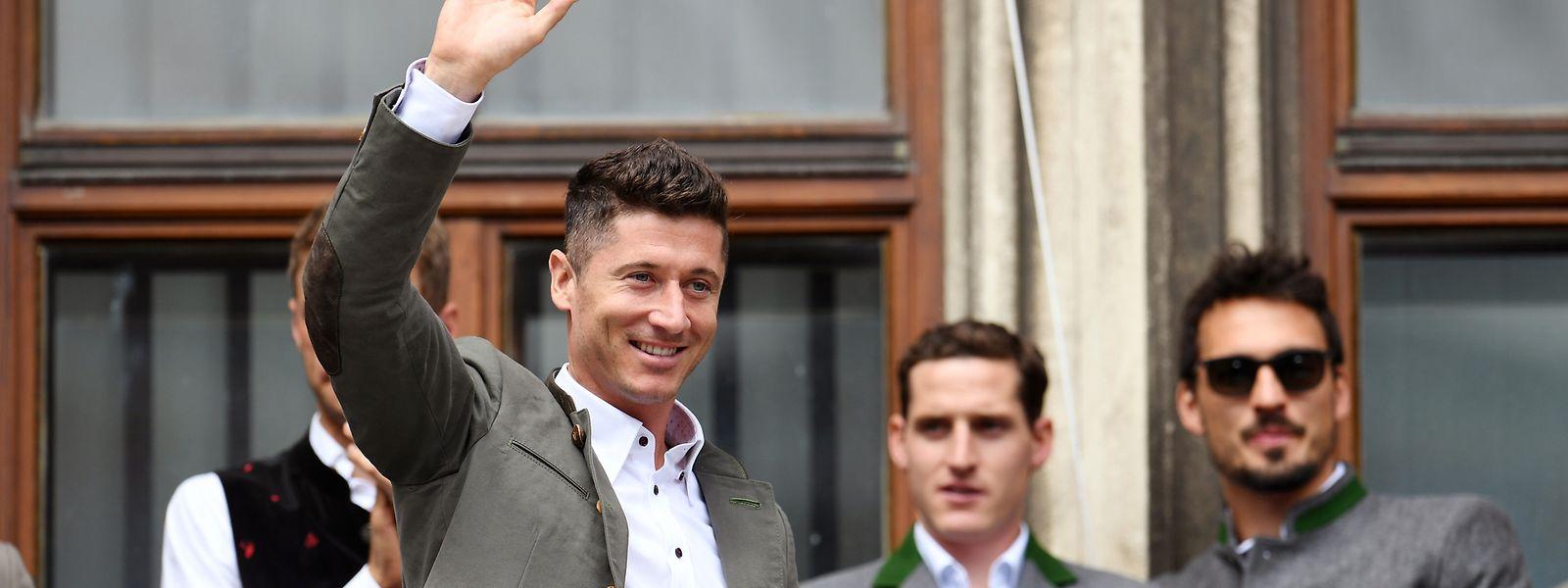Stand Robert Lewandowski in diesem Jahr zum letzten Mal auf dem Münchner Rathausbalkon?