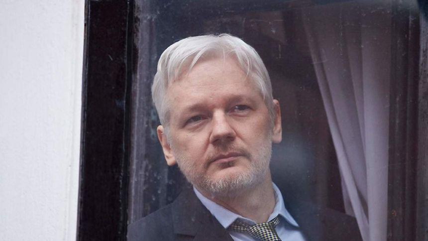 Julian Assange le 5 février 2016, à l'ambassade équatorienne, à Londres.