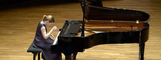 La pianiste Cathy Krier en concert à la salle de musique de chambre de la Philharmonie, là où elle a enregistré ce cinquième opus.