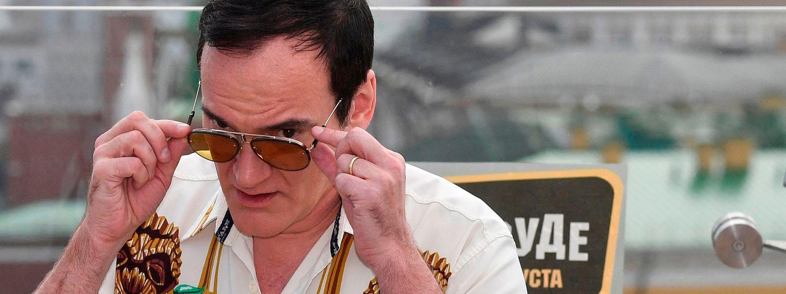 Regisseur Quentin Tarantino war bei der Premiere seines jüngstes Films in Moskau präsent.