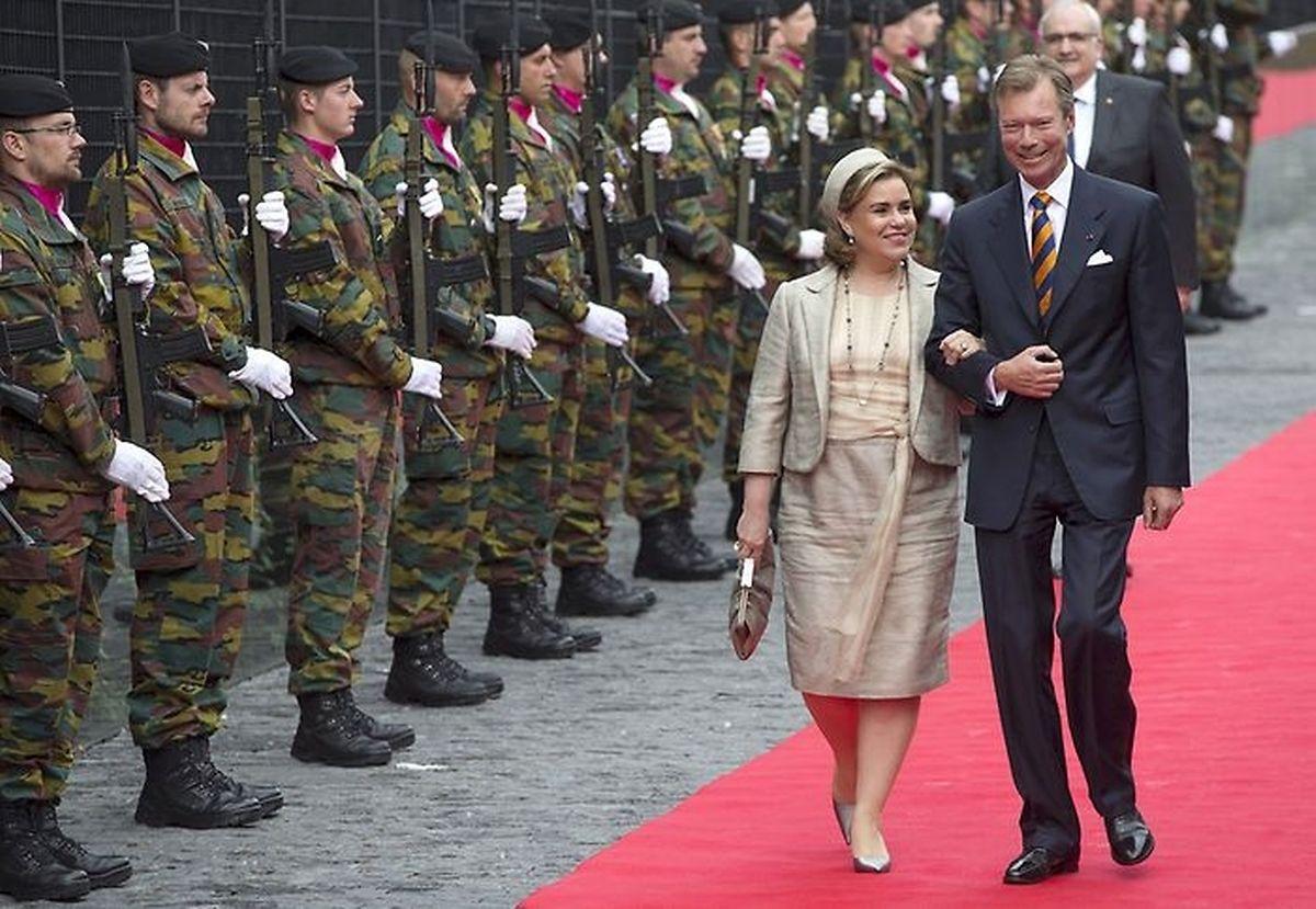 Luxemburg war durch Großherzog Henri und Großherzogin Maria Teresa vertreten.