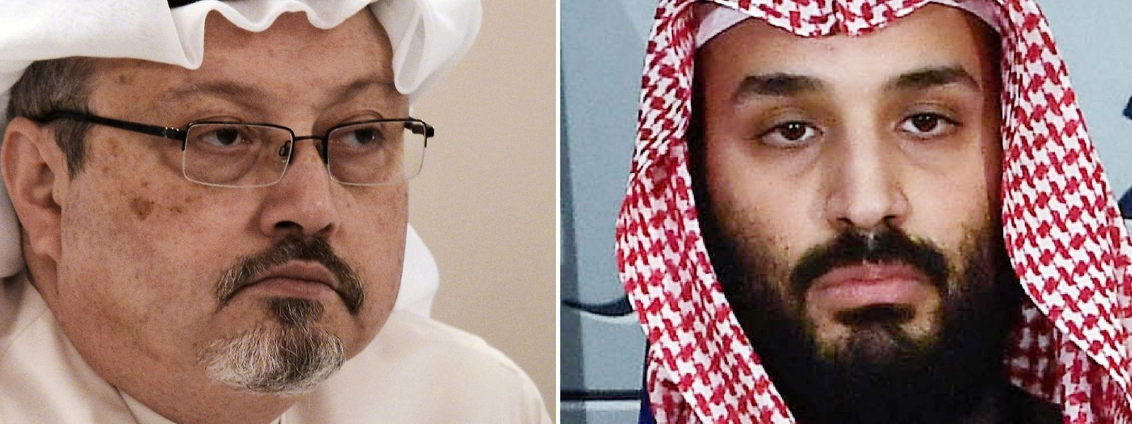 Jamal Khashoggi (l.) wurde am 2. Oktober im saudischen Generalkonsulat in Istanbul ermordet. Die Spuren führen laut CIA-Bericht eindeutig zum saudischen Thronfolger Mohammed bin Salman, kurz MBS.
