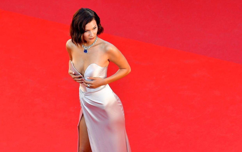 Der Glamour-Faktor: US-Model Bella Hadid auf dem roten Teppich.