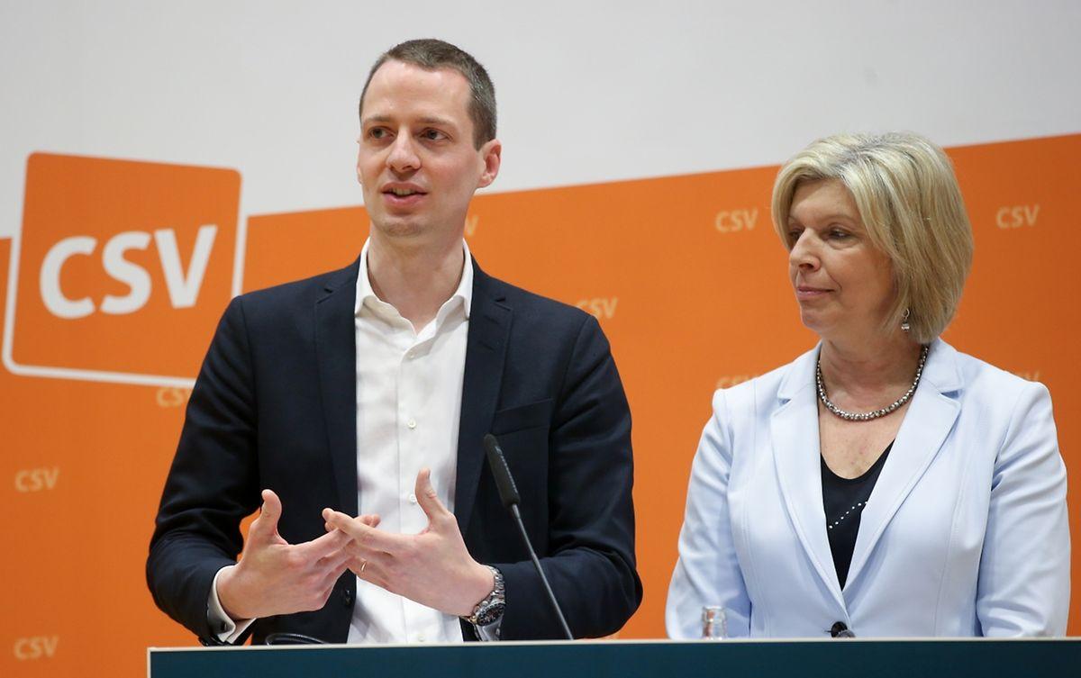 Françoise Hetto-Gaasch und Serge Wilmes waren verantwortlich für die Ausarbeitung des neuen Grundsatzprogramms.