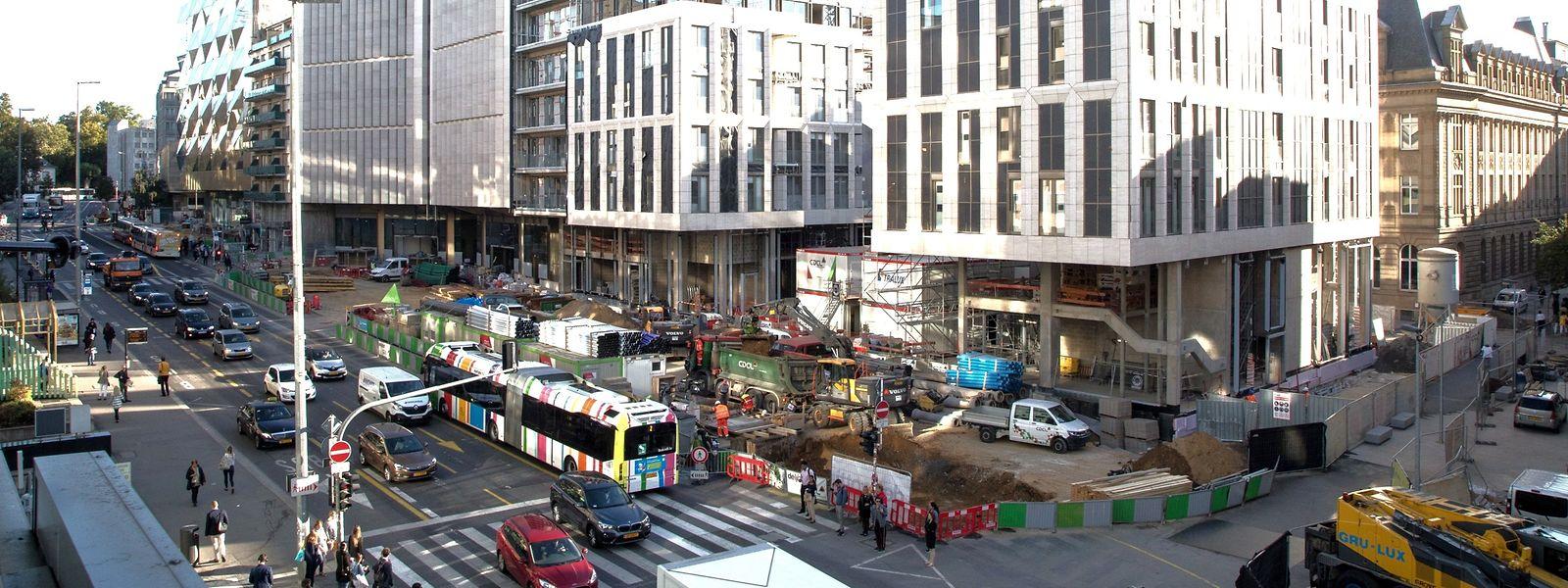 Les équipes de Luxtram devaient accéder à diverses parcelles du boulevard Hamilius au premier trimestre. Ce n'est toujours pas le cas.